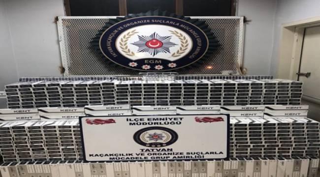 Bitlis'te 9.870 Paket Kaçak Sigara Ele Geçirilmiştir