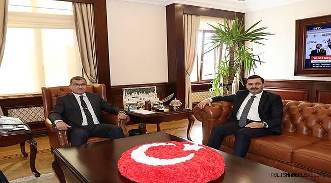 Bursa Cumhuriyet Başsavcısı Sayın Uğurhan Kuş, Emniyet Genel Müdürümüz Sayın Celal Uzunkaya'yı Makamında Ziyaret Etti