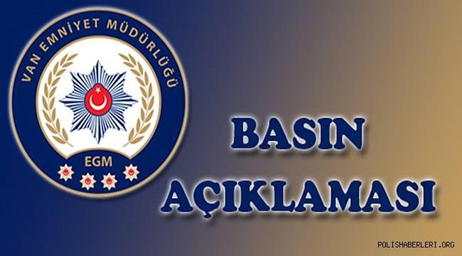 VAN EMNİYETİNDEN PKK/KCK OPERASYONU
