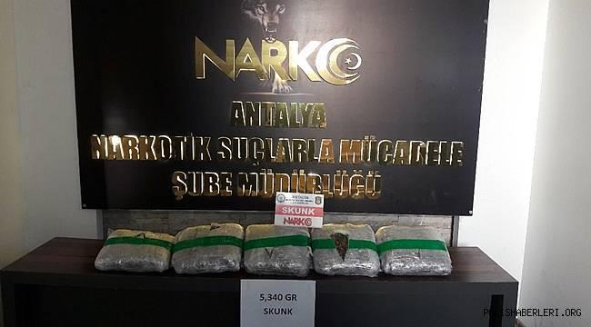Antalya'da Uyuşturucu Madde Ticareti Yapmak Suçundan 110 Şüpheli Yakalanmıştır