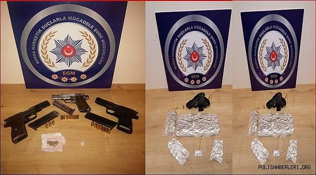 Bursa Narkotik Suçlarla Mücadele Şube Müdürlüğümüzce düzenlenen operasyonlarda 15 şahıs yakalandı