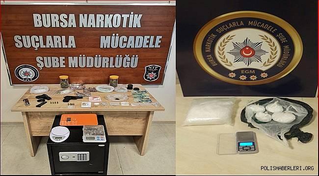 Bursa Narkotik Suçlarla Mücadele Şube Müdürlüğümüzce düzenlenen operasyonlarda 32 şahıs yakalandı
