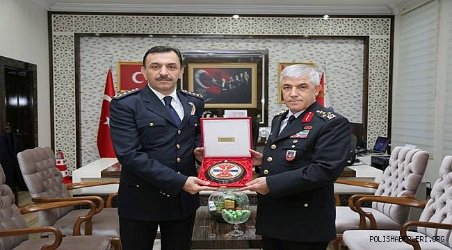 Jandarma Genel Komutanı Orgeneral Arif ÇETİN İl Emniyet Müdürümüz Mehmet Murat ULUCAN'ı Ziyaret Etti
