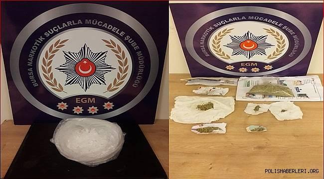 Narkotik Suçlarla Mücadele Şube Müdürlüğümüzce düzenlenen operasyonlarda 13 şahıs yakalandı