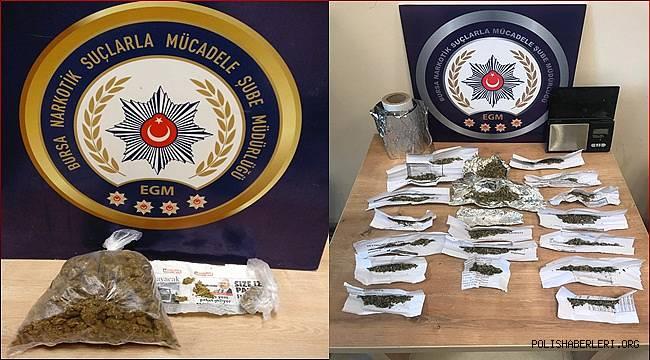 Narkotik Suçlarla Mücadele Şube Müdürlüğümüzce düzenlenen operasyonlarda 5 şahıs yakalandı