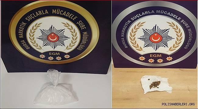 Bursa Narkotik Suçlarla Mücadele Şube Müdürlüğümüzce düzenlenen operasyonlarda 10 şahıs yakalandı