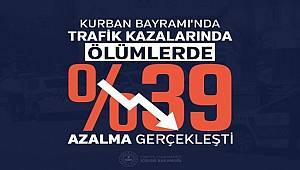 Bayram Tatilinde Trafikte Ölümler %39 Azaldı