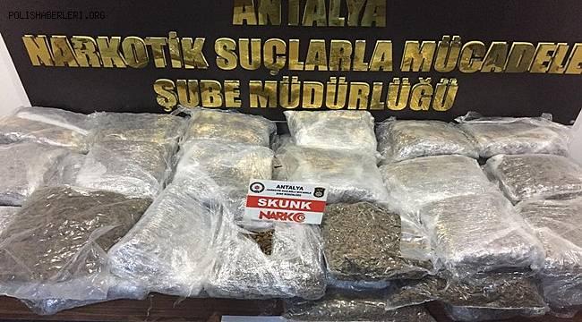 Antalya'da Yüklü Miktarda Uyuşturucu Madde Ele Geçirildi