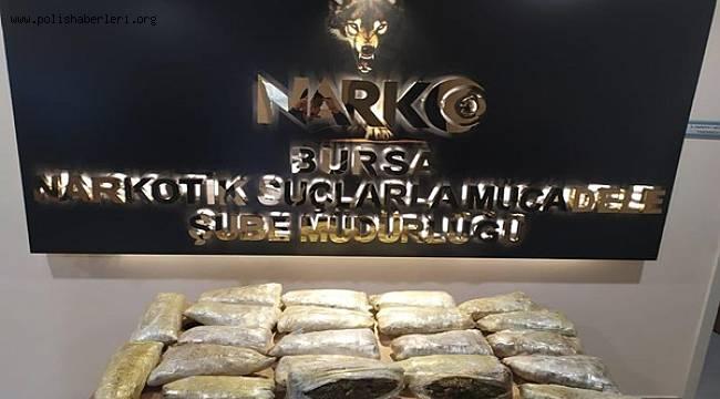 Bursa Emniyeti Operasyonlarda 16 Kilo 150 Gram Esrar Ele Geçirildi