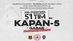 Şırnak'ta Kapan - 5 Gabar Operasyonu Başlatıldı