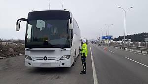 Yolcu Taşıyan Otobüslerin Denetimi Gerçekleştirildi