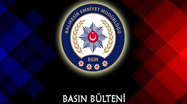 BALIKESİR'DE POLİS 38 ARANAN ŞAHSI YAKALADI.