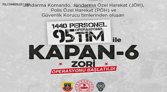 Diyarbakır-Batman İlleri Ara Hattında KAPAN-6 ZORİ OPERASYONU Başlatıldı