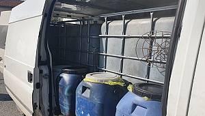 Manavgat İlçesinde Bir Minübüste Kaçak Akaryakıt Ele Geçirildi