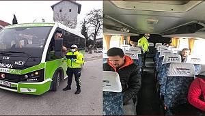 BALIKESİR POLİS EKİPLERİNDEN TOPLU TAŞIMALARA SIKI DENETİM