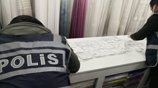 Çankırı'da İzinsiz Maske Üretimi Yapan Firmaya baskın