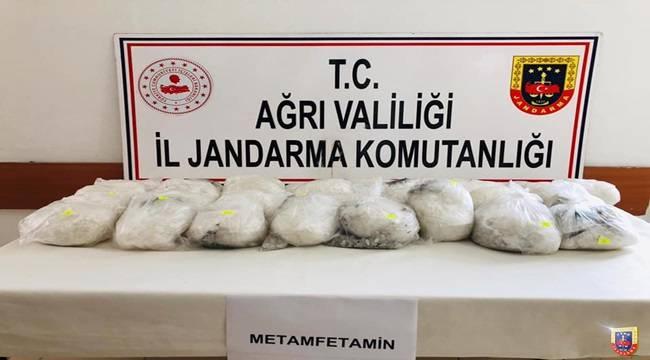Ağrı İl Jandarma Komutanlığı Tarafından Yüksek Miktarda Uyuşturucu Madde Ele Geçirildi