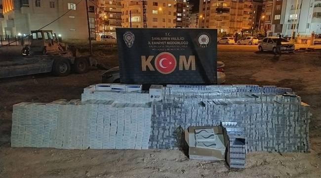 Şanlıurfa'da Sigara ve Tütün Kaçakçılarına Operasyon!