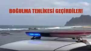 Gazipaşa İlçesinde Denizde Boğulma Tehlikesi Geçiren 2 Genci Polis Kurtardı