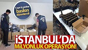 İstanbul'da 2 milyon 250 bin Liralık Sahte Parfüm Operasyonu