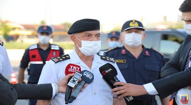 Jandarma Genel Komutanımız Orgeneral Arif ÇETİN, Covid-19 Denetimlerine Katıldı