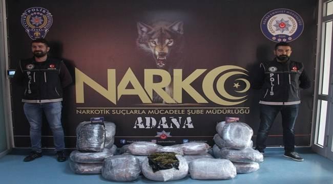 Adana'da tırda yapılan aramada 46 kilo esrar ele geçirildi