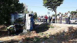 Ankara'da belediye otobüsü devrildi 5 yaralı