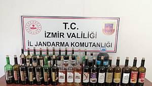 İzmir İl Jandarma Komutanlığı Kaçak İçkilere El Koydu