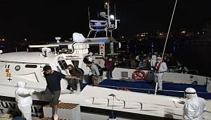 İzmir İli Açıklarında 130 Düzensiz Göçmen Yakalanmıştır.