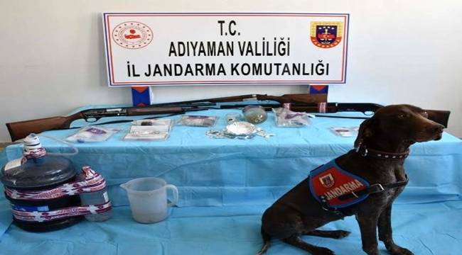 Adıyaman Besni'de uyuşturucu operasyonu düzenlendi 15 gözaltı