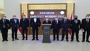Emniyet Genel Müdürü Sayın Mehmet Aktaş Erzurum İl Emniyet Müdürlüğünü Ziyaret Etti
