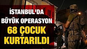 İstanbul Çocuk Şube Müdürlüğü Ekiplerince düzenlenen Operasyonda 24 kişi gözaltına alındı