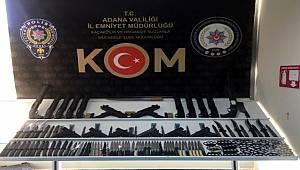 Adana Emniyet Müdürlüğü 20 bin bıçak, muşta, kılıç, kama ele geçirdi