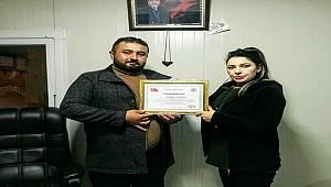 Asayiş Haber Müdürü Özdemir'den Nurdağı Haber Müdürü Çoşkun'a Ziyaret