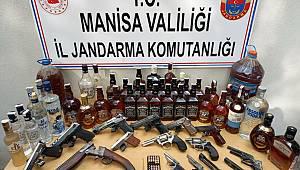 Manisa'da Jandarma KOM Ekipleri Kaçak İçki Operasyonu Düzenledi