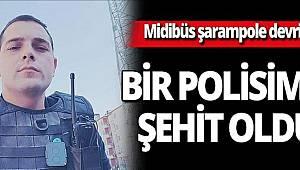 Mersin'de polisleri taşıyan midibüsün devrilmesi sonucu 1 polisimiz şehit oldu