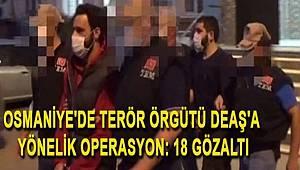 Osmaniye'de DEAŞ Terör Örgütüne Yönelik Operasyon Düzenlendi