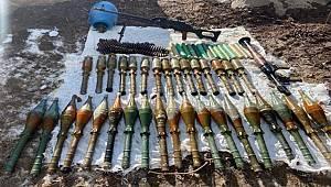 Van'da terör örgütüne ait silah ve mühimmat ele geçirildi