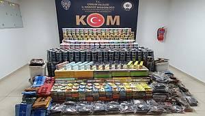 Çorum'da Kaçak Nargile Tütünü Satıcıları'da KOM Şube Müdürlüğü Ekiplerimizden Kaçamadı