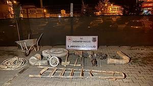 Gaziantep'te define için 45 metre tünel açan 6 şüpheli suçüstü yakalandı