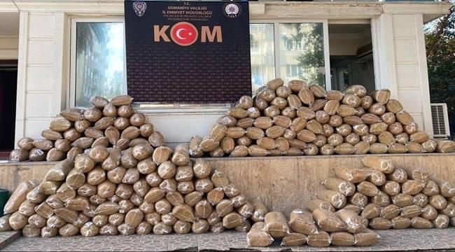Osmaniye Emniyet Müdürlüğü KOM Şube müdürlüğü ekipleri Kaçak Tütün Operasyonu