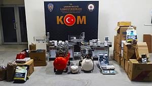 Çankırı KOM Şube ekiplerince düzenlenen Tütün Operasyonunda 3 şüpheli gözaltına alındı