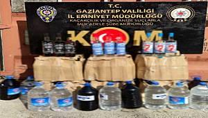 Gaziantep KOM Şube ekipleri Kaçak İçki Operasyonunda 1 şüpheliyi gözaltına aldı