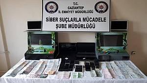 Gaziantep Siber Suçlarla Mücadele ekipleri Bahis çetesine operasyon düzenledi
