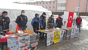 Muş'ta Özel Güvenlik Sınavına Katılan Adaylarda Farkındalık Oluşturmak Amacıyla Broşür Dağıtımı Ve Bilgilendirme Yapıldı