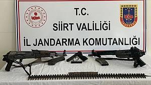 Siirt'te terör örgütü PKK'ya yönelik operasyonda silah ve mühimmat ele geçirildi