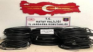 Arsuz'da kablo hırsızı 3 şüpheli tutuklandı