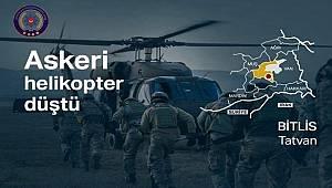 Tatvan kırsalında Askeri Helikopterin düşmesi sonucu 9 Kahraman Askerimiz Şehit oldu