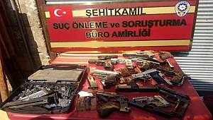 Gaziantep'te Hırsızlık şüphelisi kaçak silah imalathanesinde yakalandı