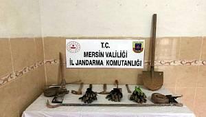 Mezitli'de Kaçak kazı yapan 6 kişi suçüstü yakalandı